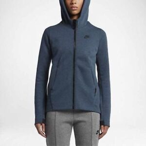 Nike NSW Tech Fleece FZ Hoodie Jacket Women's Medium Squadron Blue