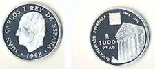 ESTUCHE FNMT MONEDA 1000 PESETAS PLATA XX ANIVERSARIO CONSTITUCION 1998  TC11963