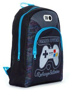 Game Over Recharge Batteries School Bag, Kids  Boys Gamer Backpack