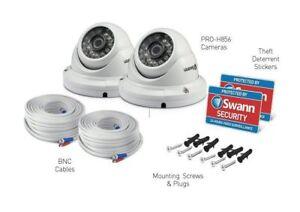 Swann Dome CCTV Security Camera Pro-H856PK2 1080p HD 100ft 30m Night Vision x2