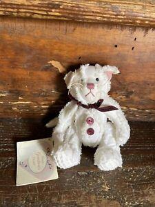 1999 From Grandma's Heart Mill Mountain White Cat Kitty Plush Stuffed Animal