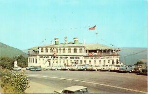 vintage postcard chrome grand view ship hotel on us 30 steamship bedford pa