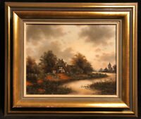 Original German Landscape Oil Painting Signed K. Konrad West Berlin Artist CERT