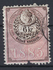 1885 RARITÄT 6 kr Kalender Stempelmarke Rötlich Revenue SELTEN angeboten