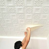KQ_ 3D PE Foam DIY Brick Stone Embossed Wall Paper Wall Stickers Wall Panels Dec