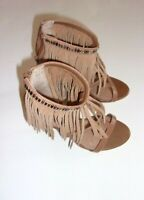 Women's GIANNI BINI Brown Heels with Hanging Tassels SIZE 6.5M