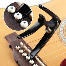 Alloy Acoustic Electric Guitar Capo Trigger Clamp Quick Change with Pin Puller