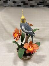 Vtg. Danbury Mint Cockatiel Figurine by Bob Guge Joyful Companion Bird Sculpture