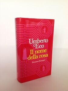 UMBERTO ECO - IL NOME DELLA ROSA -  PRIMA EDIZIONE 1980