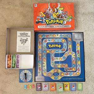 Pokemon Master Trainer Board Game COMPLETE Milton Bradley Hasbro 2005 IVGU