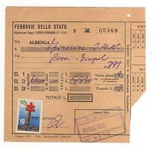 BIGLIETTO FERROVIARIO ALBENGA - FIRENZE S.M.N.  1955 13-80