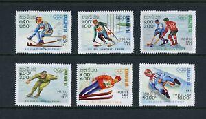 C795 Laos 1983 Olympics skating skiing 6v. MNH