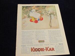 Vintage Original 1920 Kiddie-Kar Child Toy Tricycle In Fairy Land Ad Car Q224
