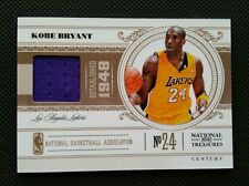 KOBE BRYANT 2010-11 PANINI NATIONAL TREASURES SP JERSEY #4/25! GAME-USED! LAKERS
