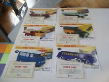 LOT DINKY TOYS  ATLAS FASCICULES + CERTIFICATS  LOT