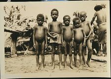 Photo New Britain New Guinea native boys US 40th Division US Army