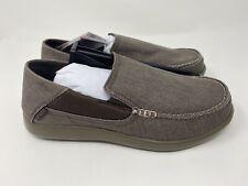 crocs Men's Santa Cruz 2 Luxe Slip-On Loafer, Espresso/Walnut, 9 M US, Free Ship