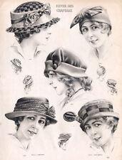 """20x30"""" CANVAS Decor.Room design art print..Nouveau French fashion hats.6165"""