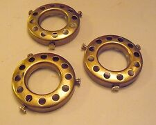 "Lot of 3 UNO 2 1/4"" Fitter Solid Brass Bridge Lamp Shade Holder Lamp Part (UB1)"