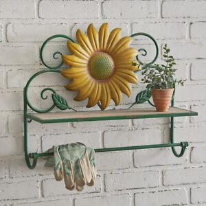 Sunflower wall Shelf and Towel Bar