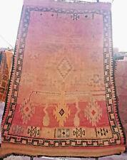 Moroccan Vintage Rug Berber Handmade Tribal Wool Bohemian 5x8' Mzouda Azilal Rug