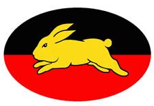 South Sydney RABBITOHS Aboriginal Flag Vinyl Bumper Sticker/decal