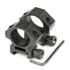 """2 x Low Profile 20mm Picatinny Rifle Scope Mounts 25.4mm 1"""" inch Ring Black"""