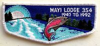 MERGED MAYI OA 354 GOLDEN EMPIRE SCOUT PATCH 1947-1992  LODGE 45TH SERVICE FLAP