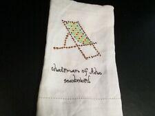 """Chairman of the Seaboard"" Linen Tea Towel, NWT"