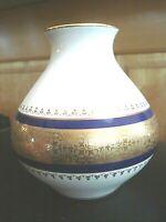 Vintage Royal Porzellan Bavaria KPM German Handarbeit Cobalt Blue & Gold Vase