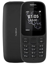 Nokia 105 Negro (Desbloqueado) Teléfono Móvil En Caja Libre De Polvo Doble Sim Nuevo