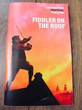 FIDDLER ON THE ROOF CHICHESTER MUSICAL THEATRE PROGRAMME SIGNED CAST UK CHARITY
