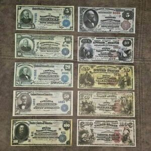 High quality COPIES with W/M United States.National Bank 1882-1909 FREE SHIPPING