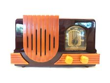 VINTAGE 40s ANTIQUE ADDISON NEAR MINT OLD CATALIN BAKELITE CABINET & TRIM RADIO