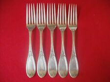 (5) Rogers & Smith Silverplate Dinner Forks, 19th Century Olive   #21