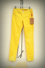 NWT TRUE RELIGION SHANNON Size 25 Pants Pin Corduroy Pineapple Yellow