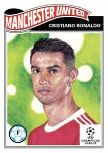 TOPPS UCL SOCCER UEFA LIVING SET CARD MANCHESTER UNITED CRISTIANO RONALDO #374