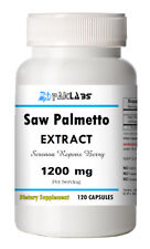 Saw Palmetto Extract 1200mg 100% Organic Extract 120 Caps Men Prostate Health