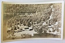 TUPPER LAKE N Y Real Photo Postcard c1950s Aerial View of Paradise Point Camps