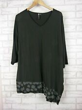 TS Top 3/4 sleeves Black Grey trim Sz XS, 14