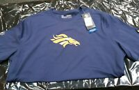 UNDER ARMOUR Denver Broncos NFL Combine BLUE T-Shirt Size L *NEW* $35