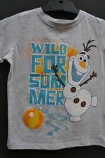 Frozen Olaf Boy's Sz  4 top BNWT + GIFT luggage tag t-shirt tee Disney licensed