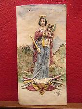 antigua placa loza notre dame libertador salins 39 max claudet firmada 1889