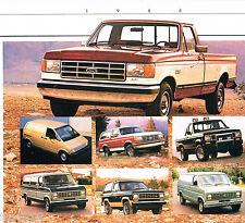 1988 FORD Truck Brochure / Catalog:PickUp,RANGER,BRONCO,VAN,II,2,F-150,Series,XL
