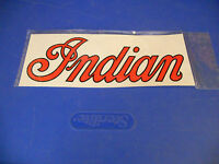 NOS Vintage Indian Motorcycle Decal Sticker Red and Black 10 x 4
