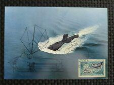 MONACO MK 1962 SUBMARINE UBOAT DIVER MAXIMUMKARTE CARTE MAXIMUM CARD MC CM 9762