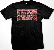 What Happens At The Winery Stays At The Winery- Wine Alcohol Men's T-shirt