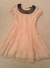 Topshop Vintage Style Peach Minidress  Size 6