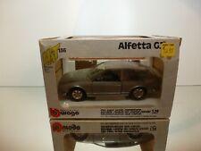 BBURAGO ALFA ROMEO ALFETTA GT - SILVER 1:24 - VERY GOOD CONDITION IN BOX