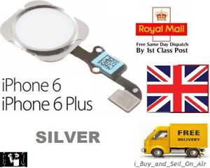 For iPhone 6 & 6 Plus Home Button Flex Cable Replacement SILVER. FAST & FREE